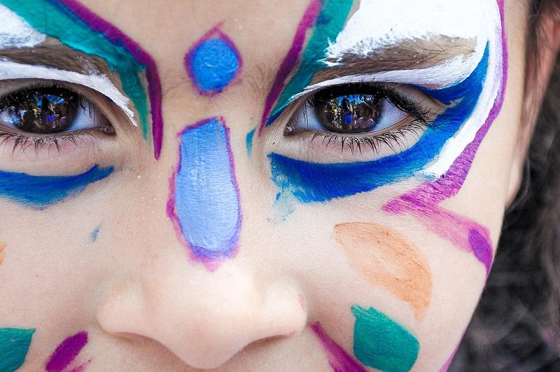 pintura cara niñas infantil